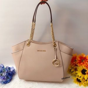 NWT Michael Kors Jet Set Travel Chain Tote Ballet